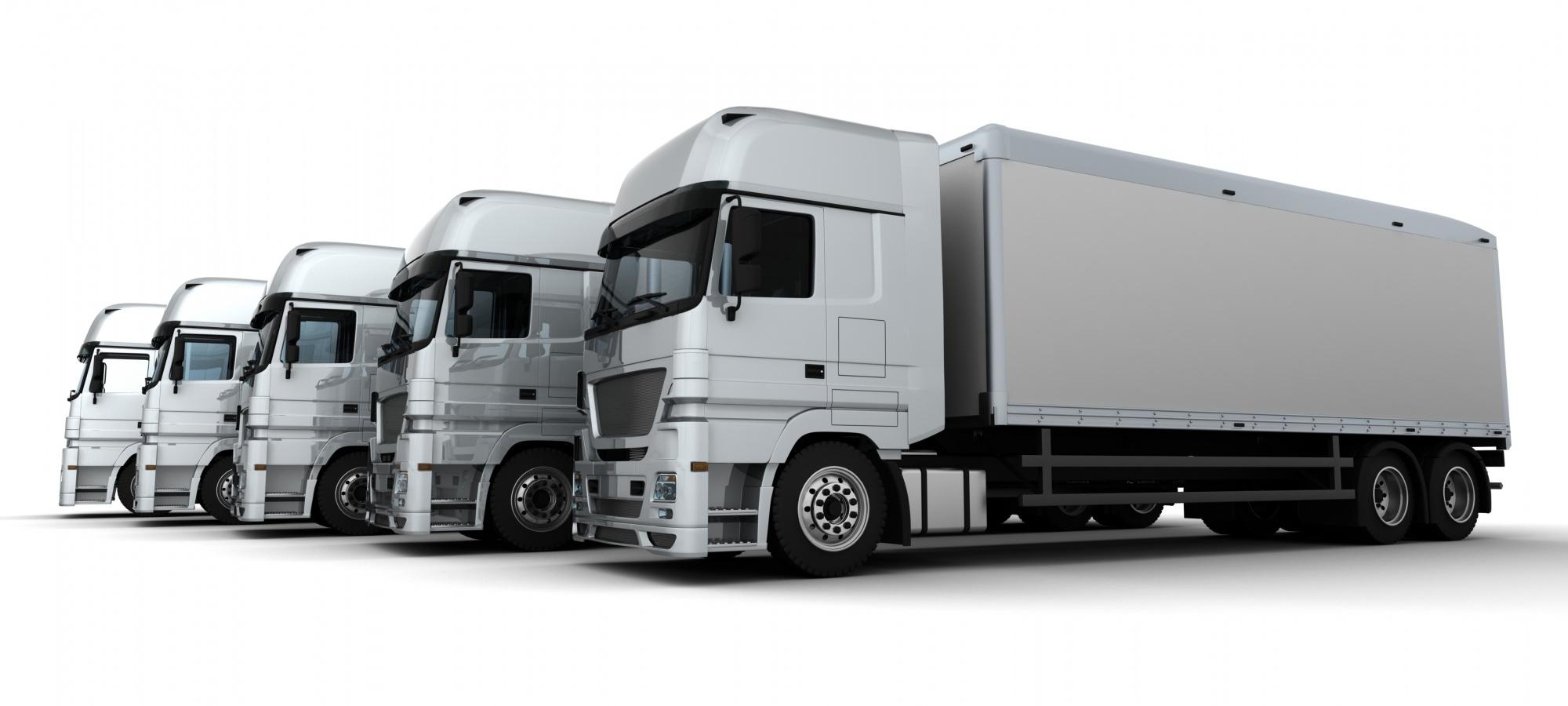 Camiones de transporte terrestre